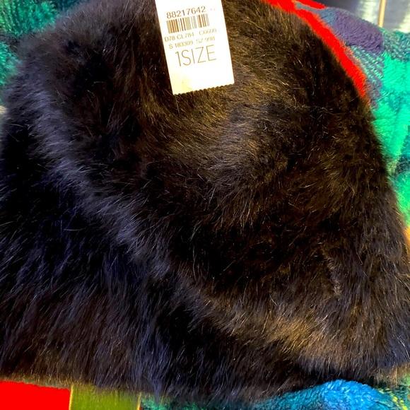 Loft faux fur beanie hat